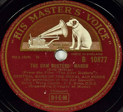 CENTRAL BAND OF THE ROYAL AIR FORCE - The Dam Busters March - gramophone record