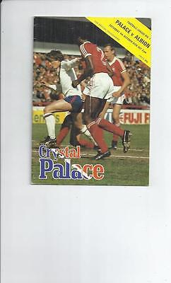Crystal Palace v West Bromwich Albion Football Programme 1980/81