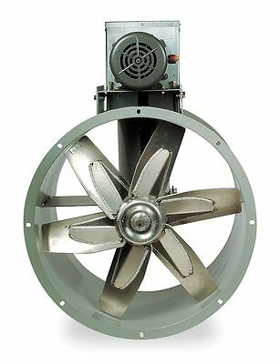 "Dayton 12"" Capacitor Start Tubeaxial Fan with Motor and Drive Package, 115/230V,"