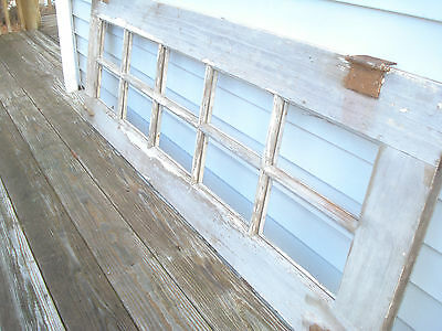 Antique Vintage Door Window Transom 10 Lite Shappy Chippy Wall Art