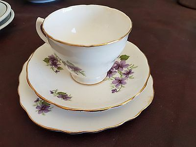 Trio Cup, Saucer & Bread & Butter Plate (Royal Vale China)
