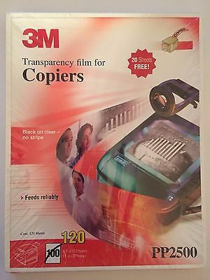 Transparency Film for Copiers 120 Sheets 8.5x11 Brand New in Sealed Box PP2500