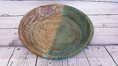 Vintage Hand Carved Wooden Bowl ~ Rustic Primitive Farmhouse Kitchen Decor