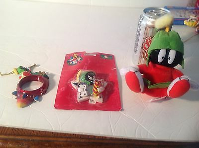 Marvin The Martian Xmas Ornaments & Gift Plush, Looney Tunes Toons Warner Bros