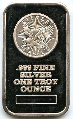 Eagle .999 Silver Art Bar ingot Medal - 1 oz Troy Sunshine Minting bullion AA91