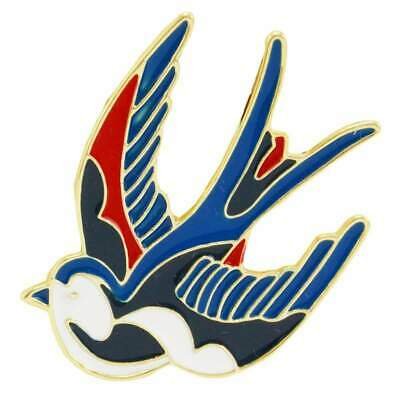 Swallow Enamel Pin Badge Retro Tattoo Rockabilly Punk Lapel Brooch Aussie Seller