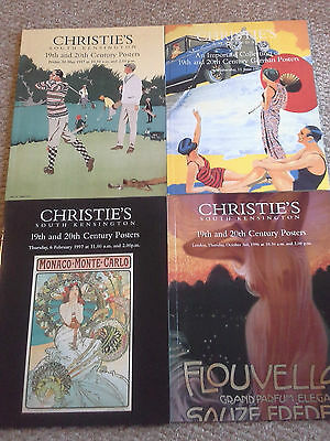 4 x Christie's poster auction catalogues, poster