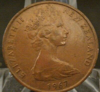 1967 New Zealand Two Cent Uncirculated Coin-Onz6702