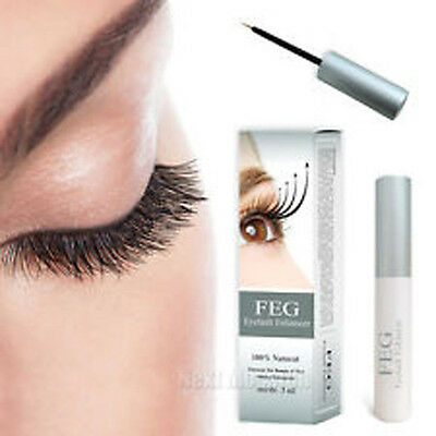New FEG Eyelash Enhancer Eye Lash quick Growth Serum Liquid 100% ORIGINAL 3ml UK