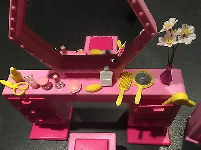 ARCO Barbie and the Rockers Vanity/Dresser Furniture Set/Accessories++Mattel Co.