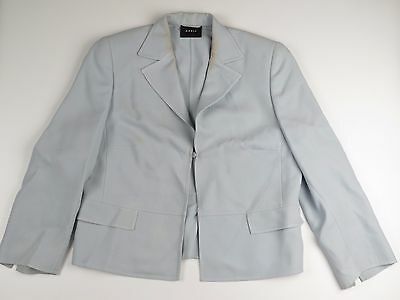 VTG AKRIS Super Fine Wool Blazer Jacket Suit Coat Pale Seafoam Green US 10