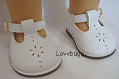 """White T Strap Mary Janes Shoes for 18"""" American Girl Doll Clothes Best Selection"""