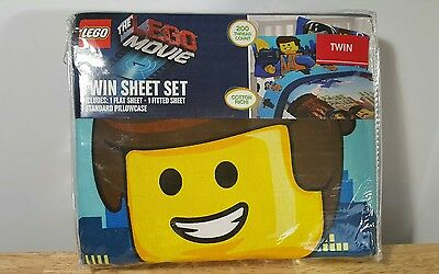 Lego Movie Lego Frenzy Twin Sheet Set-Flat Sheet, Fitted Sheet, & Pillowcase