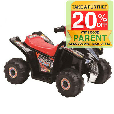 Indoor/Outdoor Black Electric Quad Bike Ride On/Motorbike/Kids/Toddler/Battery
