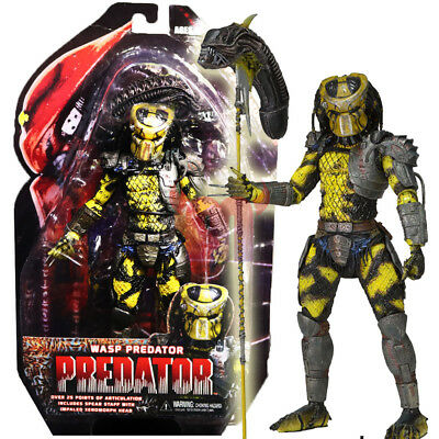 "NECA Wasp Predator Yellow Alien Hunter 7"" Action Figure Predators Movie1:12 Doll"