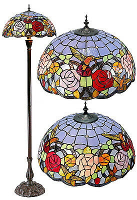 "New arrivals@18"" Hummingbird Leadlight Stained Glass Tiffany Floor Lamp"
