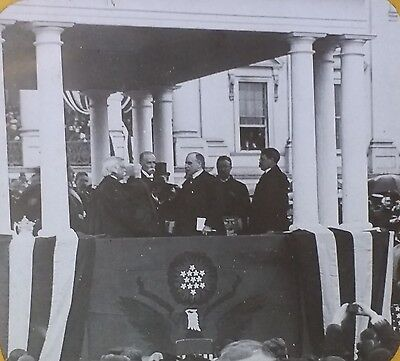 President William McKinley Inauguration/Oath Office, Magic Lantern Glass Slide