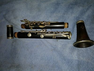 Vintage, Rare, pre R13  Buffet wood (matching #'s both pieces) Bb clarinet
