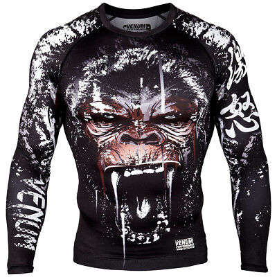 Venum Gorilla Long Sleeve MMA Compression Rashguard - Black