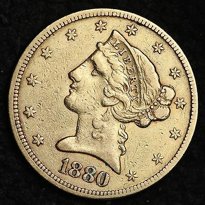 1880 Liberty Gold $5 Dollar Half Eagle CHOICE XF FREE SHIPPING E344 ENB