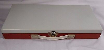 Smith Victor Metal STORAGE CASE Container for 35MM Slides Or Coins VTG Rare Red