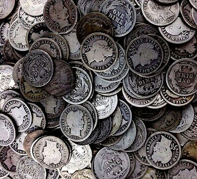 $2 Face 90% Silver Coins - Barber Dimes Only - Fresh Bulk Collection Lot Bullion