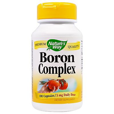 Boron Complex Natures Way 3Mg 100 Caps Enhanced Absorption Bone Health