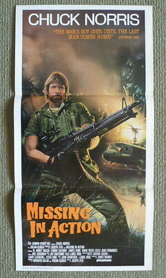 Missing In Action ~ Chuck Norris ~ Original 1984 Australian Daybill Movie Poster