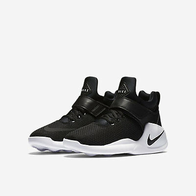 Nike Kwazi Grade School Kids Sneakers 845075-001 Black/white/black Us Gs
