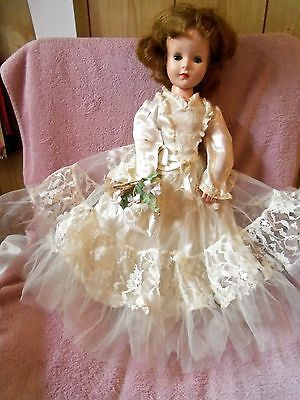 """Vintage 17"""" American Character Sweet Sue Doll + Gown & Shoes"""