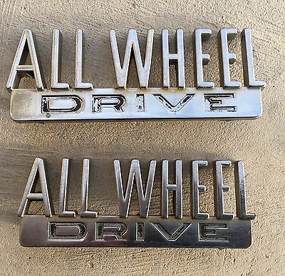 Vintage International Harvester All Wheel Drive Fender Emblem Truck Travelall