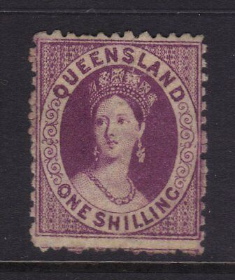 "Queensland Sg 108; 1/-Mauve Chalon,Perf 12 Wmk ""Crown Q"",Fine MLH.cv £100."