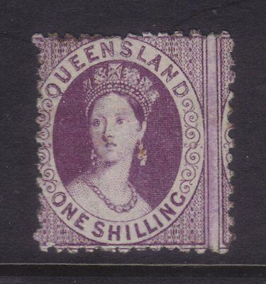 "Queensland Sg 109; 1/-Purple Chalon,Perf 12 Wmk ""Crown Q"",Fine MLH.cv £250."