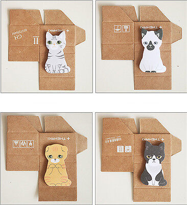 Cute Cat Kawaii Kitty House Adhesive Sticky Notes*Memo Pad Stationery Bookmark