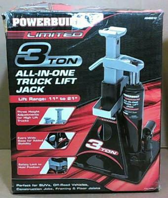 NEW OPEN BOX Powerbuilt 640912 All-In-One 3-Ton Bottle Jack with Stand $75