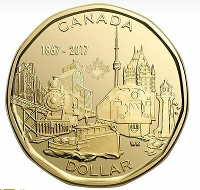 2017 Canada 150 Special Edition $1 Dollar Coin UNC Connecting To A Nation
