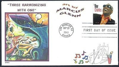 JAZZ  MARCUS GLENN   PIANO  Three Harmonizing with One       FDC- DWc CACHET