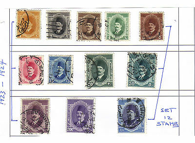 A Used Set of Stamps from Egypt (1)