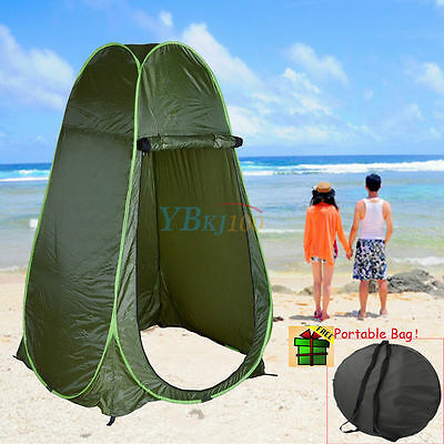 Portable Pop Up Privacy Tent Change Room Outdoor Shower Toilet Shelter Green