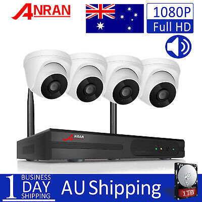 ANRAN 4CH 720P IP Network Outdoor Wireless Home Security Camera System 1TB HDD