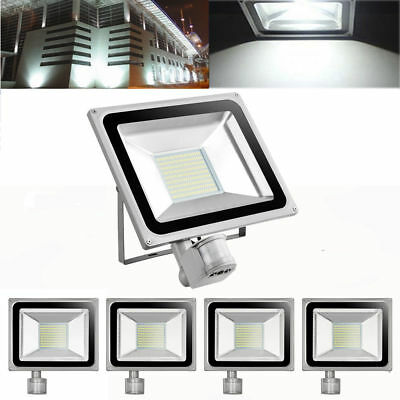 2X 80W PIR Motion Sensor SMD LED Flood Light Cool White Outdoor Spot Lamp 240V