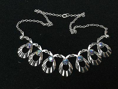 Vintage Danish Silver Necklace with purple stones by Herman Siersbol