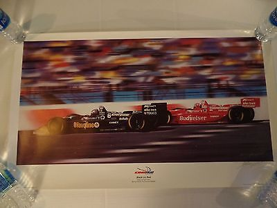 "Newman Hass Racing - Keith Murray signed & numbered Lithograph - ""Black on Red"""