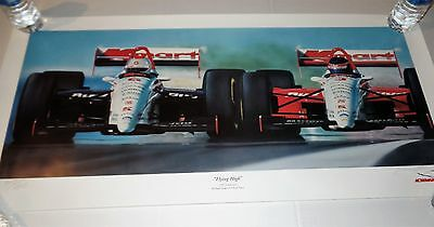 "Newman Hass Racing - Keith Murray signed & numbered Lithograph - ""Flying High"""