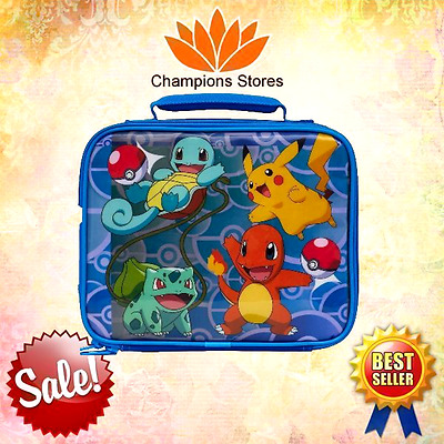 Pokemon Soft Lunch Box Anime Pinbacks Bobbles Lunchboxes Toy Game Gift NEW