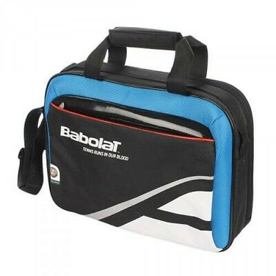 Babolat Tennis Brief Case Laptop Bag 754004 146 Black Blue - New