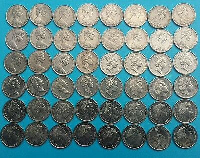 1966-2016 10 cent coin set / collection including 1985, 2011, BOTH 2016 COINS