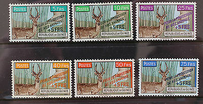 Guinea 1961 Protection of Animals Set MNH SG283-288