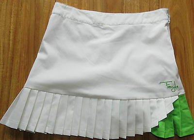 Fayde Lades White Golf Skirt Sz 8- As New- Fantastic Cond