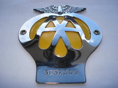 C1960S Vintage A.a.radiator Fitting Car Badge